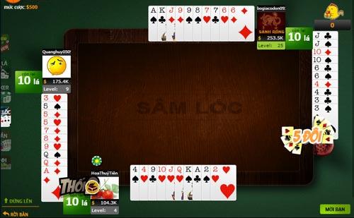 Game Sâm Lốc online - Chơi game Xâm online