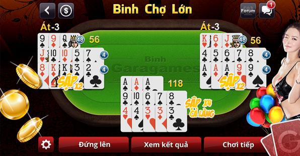 Luật chơi Binh - Trang giới thiệu