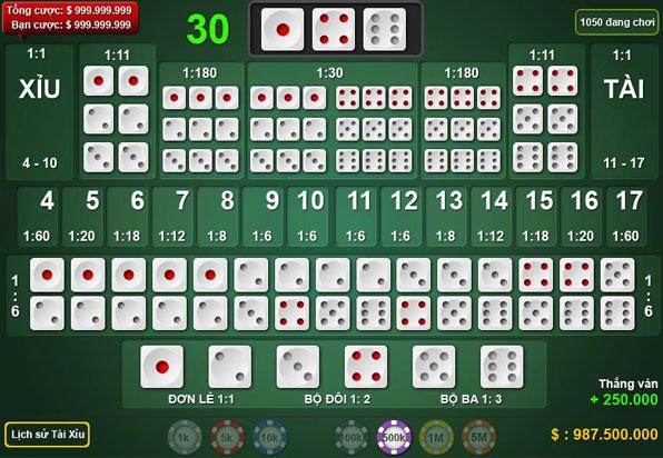 Game Tài Xỉu - Chơi Tài Xỉu online