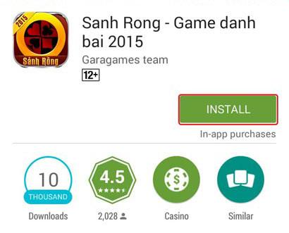 Cài đặt game đánh bài Android miễn phí