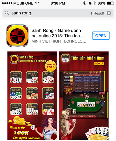 Kết quả tìm kiếm game miễn phí cho điện thoại iOS