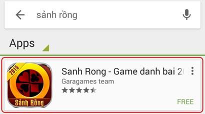 Kết quả tìm kiếm game miễn phí cho điện thoại Android