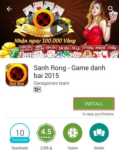 Nút tải game kho ứng dụng Google Play