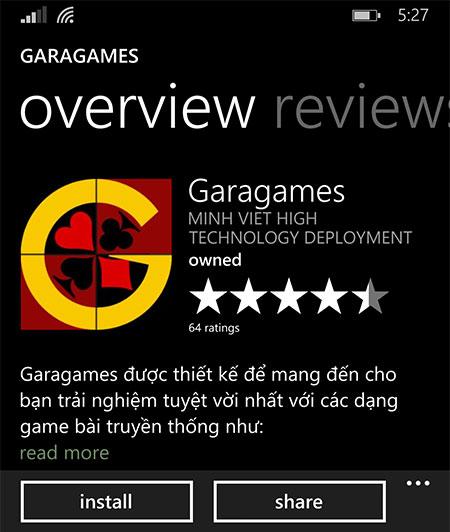 Tải game đánh bài cho Windows Phone