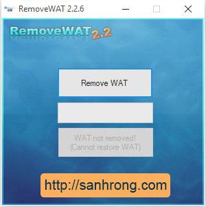 Sửa lỗi màn hình đen Win 7 bằng Remove WAT