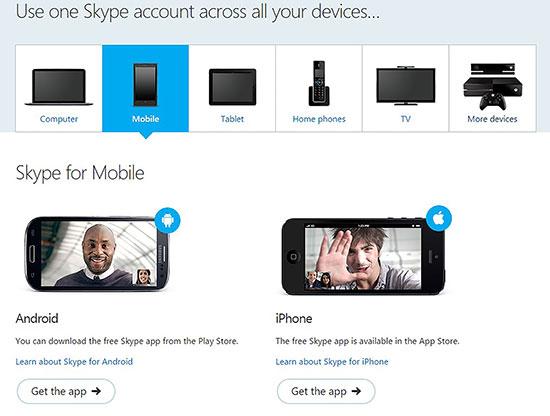 Tải Skype miễn phí cho điện thoại