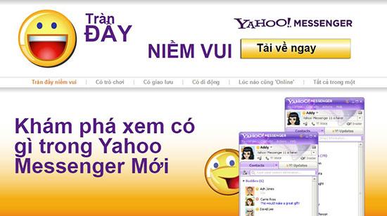 Tải Yahoo Messenger 11 tiếng Việt miễn phí