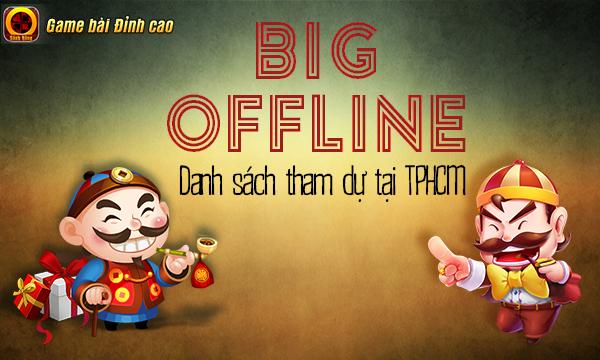 Sảnh Rồng công bố danh sách game thủ tham gia Offline tại TPHCM